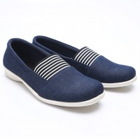 Dr.Kevin Women Slip On Shoes Canvas 43142 Navy