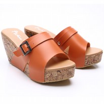 Dr.Kevin Women Wedges Sandals Leather 27338 Orange
