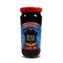 Borges Black Pitted Olives 230 g