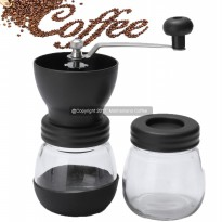 Mokhamano Ceramic Coffee Mill Hand Grinder Skerton with Glass Canister