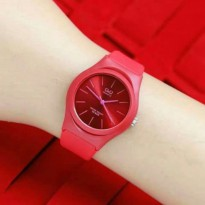 JAM TANGAN WANITA QNQ JELLY LADIES RED