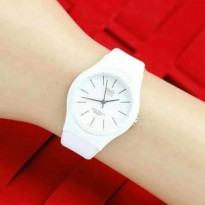 JAM TANGAN WANITA QNQ JELLY LADIES WHITE
