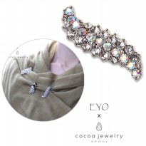 Cocoa Jewelry Brooch - Staunch Glossy Silver Color