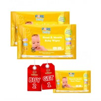 Pure Baby Hand And Mouth Baby Wipes Orange Oil Buy 2 Get 1 Free