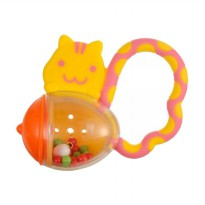Richell Squirrel With A Corn Baby Teether - Mainan Gigitan Bayi