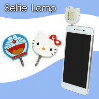 Lampu Selfie LED DORAEMON DAN HELLO KITTY Fill-In Light | Selfi Lamp Blizt 3.5mm Jack Plug External