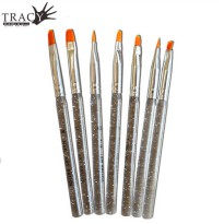 [globalbuy] Tracy Simple Nails 7pcs New Acrylic Handle Nail Brush Set UV Gel Builder Bushe/3203107