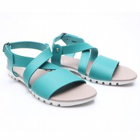 Dr.Kevin Women Flat Sandals Pu Leather 56001 Green