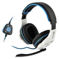 Sades Wolfang SA-903 Headset Gaming Headphone Microphone - Hitam / Biru Hitam / Biru