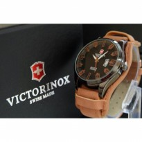 JAM TANGAN PRIA VICTORINOX LEATHER-BROWN