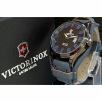 JAM TANGAN PRIA VICTORINOX LEATHER-NAVY