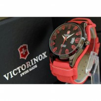 JAM TANGAN PRIA VICTORINOX LEATHER-RED