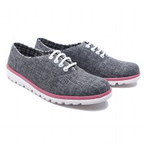 Dr.Kevin Women Sneaker Canvas Cherry Blossom 43176 - 2 Colors [ Grey,Blue ]