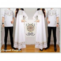 COUPLE ELEGANT BORDIR WHITE KATUN+BORDIR FIT TO L