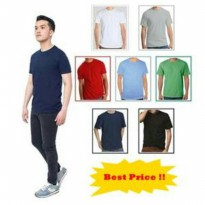 KAOS POLOS PREMIUM PRIA - HIGH QUALITY - COTTON COMBED 30S