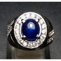 CINCIN BATU NATURAL BLUE SAPPHIRE ROYAL BLUE COLOR
