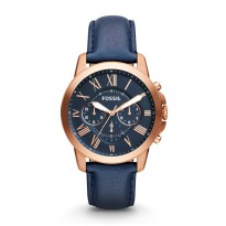 Fossil FS 4835 ORI Blue Gold Leather Strap - Jam Tangan Pria