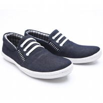 Dr.Kevin Mens Casual Slip-On Shoes Canvas 13264 Black