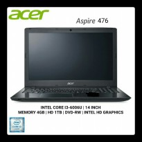 Laptop ACER ASPIRE Z476-31TB-007 i3 6006U DC/4GB/1TB/INTEL HD 520/DOS