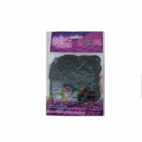Girlie Girlz TM3229 Jelly Colour Rubber Loom Band & Clip Refill Pack (small) Black
