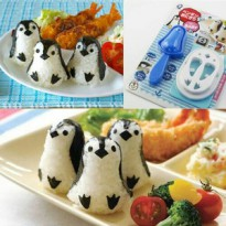 Pinguin Bento Rice Maker Cutter Mold - Cetakan Nasi Nori Penguin