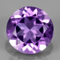 Best 7mm Natural Unheated Purple Amethyst- Brazil