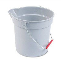 [worldbuyer] Rubbermaid Commercial RCP296300GY - Rubbermaid-Gray Brute Plastic 10 Quart Ro/2489858