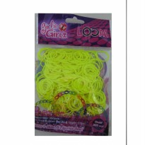 Girlie Girlz TM3229 Jelly Colour Rubber Loom Band & Clip Refill Pack (small) Yellow