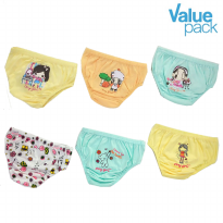 (6pcs) Finy Girls Underwear / Celana dalam anak perempuan - Little Girl & Girls Only - Value Pack