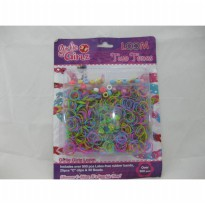 Girlie Girlz TM3231 Two Tones Rubber Loom Band, Clip & Beads  Refill Pack (large)