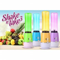 BLENDER ALAT MEMBUAT JUS JUICE SHAKE AND TAKE GENERASI 3 BER WARNA COLOR 2 CUP TABUNG GELAS PRAKTIS IMPORT BEST SELLER