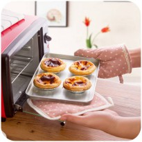[globalbuy] Wave point microwave vanzlife oven mitts simple dual anti-hot pad insulation p/2713381
