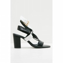 Hope Block Heels Black White
