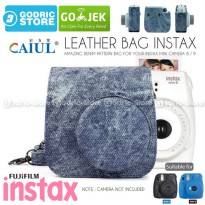 Fujifilm Leather Bag Polaroid Instax Mini 8 & 9 Tas Denim Jeans Case