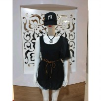 Baju fashion wanita mini dress model tarzan import best seller