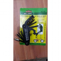 Folding Bicycle Tools set Sellery / Obeng , Kunci sok Set Sepeda