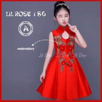 Dress Imlek Cheongsam Anak Kids Merah Cantik