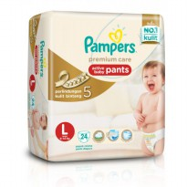 Pampers Popok Premium Care Active Baby Pants - L 24