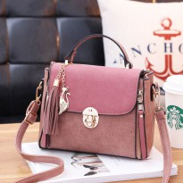 WOMAN HANDBAG #ELV88093 MODEL CASUAL AND ELEGAN WITH LONG STRAP 100% HIGH QUALITY IMPORT
