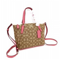 Authentic COACH Kelsey Mini in Signature - Pink Beige