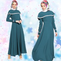 Jfashion Long dress Gamis Maxi variasi Renda tangan Panjang - Vinka