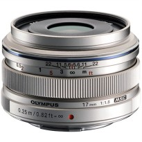 OLYMPUS 17mm F1.8 M.ZUIKO DIGITAL Lensa Camera Silver