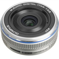 Olympus 17MM F2.8 M.ZUIKO DIGITAL Lensa Camera Silver