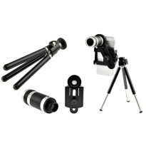 Universal Camera Lensa Telezoom 8x + Tripod+ Holder ALL type Handphone