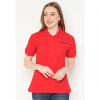 Mobile Power Ladies Polo T-Shirt Wangki - Red JL105