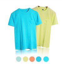 BRANDED / MENS SHORT SLEEVE ROUND NECK T-SHIRTS / BAJU KAOS PRIA / 5 COLORS AVAILABLE / PAKAIAN PRIA