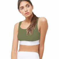 Baju Olahraga Senam Yoga Fitness Gym Forever 21 High Impact Cross X Bra- Forest Green 06FSB013