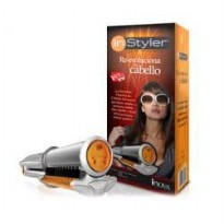 INStyler Catok Rambut 2IN1 - Catok Rotating Iron Hair Curler & Straightener Digital Perm