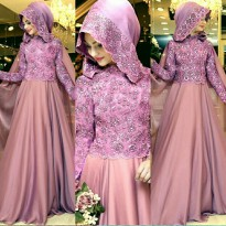 New Collection Model Gamis Premium - Brukat Combi / All Size