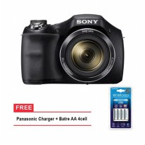 Sony Cyber-Shot DSC H300 - 20.1 MP - 35x Optical Zoom FREE Panasonic Battre & Charger AA4 Cell